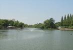 大池と噴水