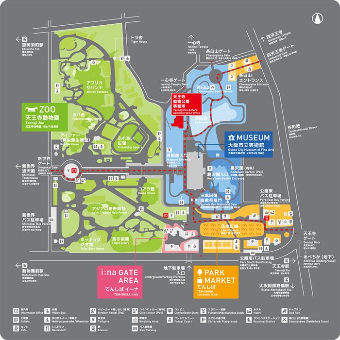 天王寺公園マップ